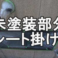 養生(未塗装部分シート掛け)
