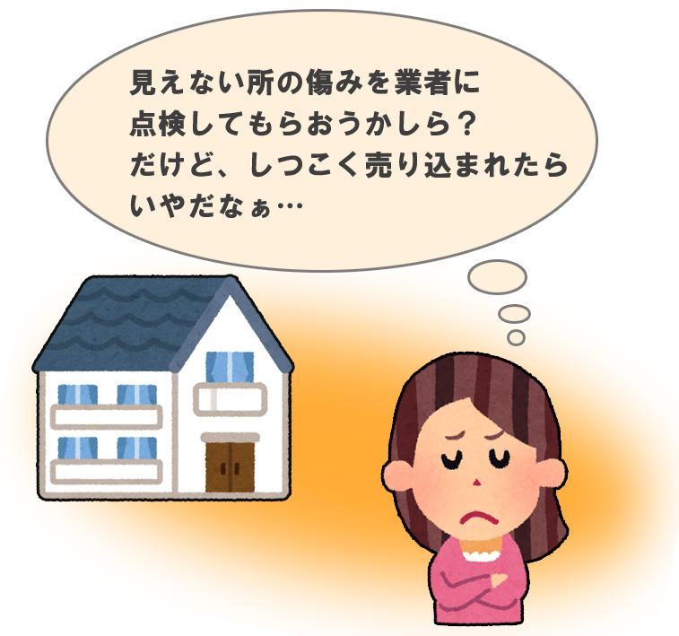 家の劣化に関する悩み